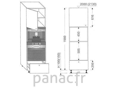 Colonne électromenager de cuisine KPE-60/1980 A1 L