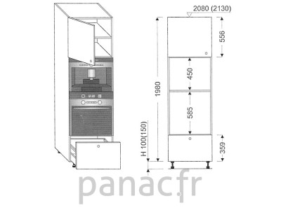 Colonne électromenager de cuisine KPE-60/1980 B1 L