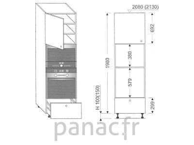 Colonne électromenager de cuisine KPM-60/1980 A1 L