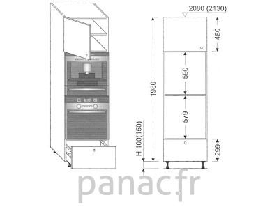 Colonne électromenager de cuisine KPSE-60/1980 A1 L