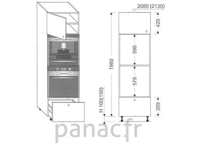 Colonne électromenager de cuisine KPSE-60/1980 B1 L