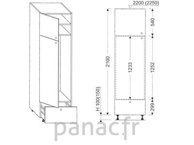 Colonne électromenager de cuisine KL-60/2100 A1 L