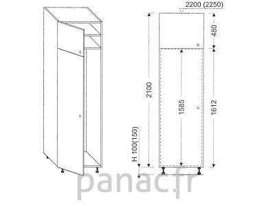 Colonne électromenager de cuisine KL-60/2100 01L