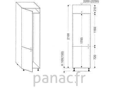 Colonne électromenager de cuisine KL-60/2100 00L