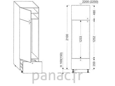 Colonne électromenager de cuisine KL-60/2100 B1 L