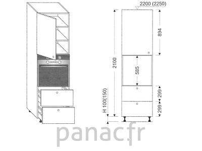 Colonne électromenager de cuisine KP-60/2100 S2 L