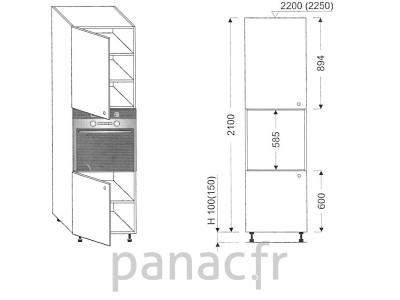 Colonne électromenager de cuisine KP-60/2100 S L