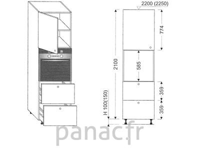 Colonne électromenager de cuisine KP-60/2100 T2 L