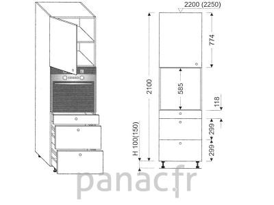 Colonne électromenager de cuisine KP-60/2100 T3 L