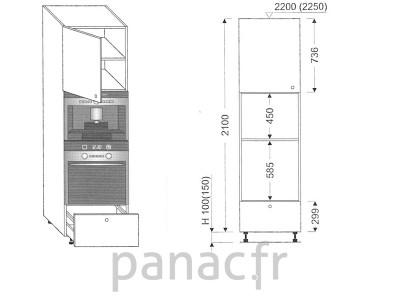 Colonne électromenager de cuisine KPE-60/2100 A1 L