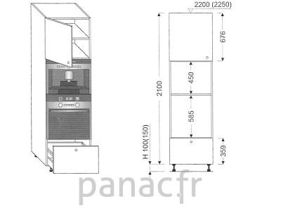Colonne électromenager de cuisine KPE-60/2100 B1 L