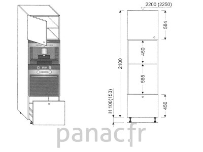 Colonne électromenager de cuisine KPE-60/2100 C1 L
