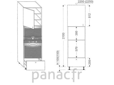 Colonne électromenager de cuisine KPM-60/2100 A1 L
