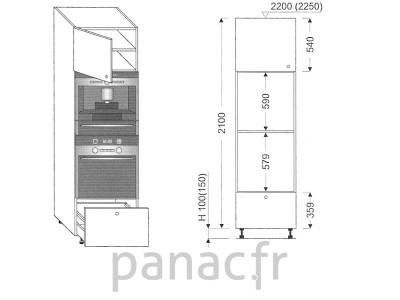 Colonne électromenager de cuisine KPSE-60/2100 B1 L