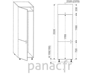 Colonne électromenager de cuisine KL-60/2220 00L