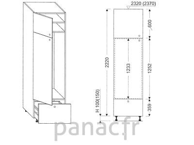 Colonne électromenager de cuisine KL-60/2220 B1 L