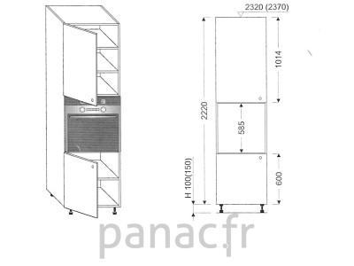 Colonne électromenager de cuisine KP-60/2220 S L