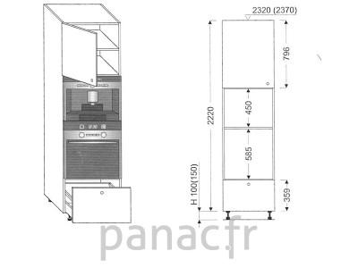 Colonne électromenager de cuisine KPE-60/2220 B1 L