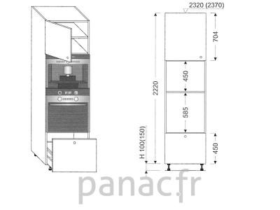 Colonne électromenager de cuisine KPE-60/2220 C1 L