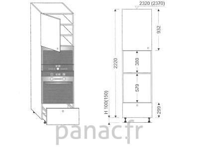 Colonne électromenager de cuisine KPM-60/2220 A1 L