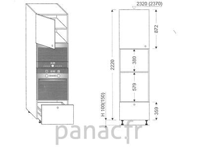 Colonne électromenager de cuisine KPM-60/2220 B1 L