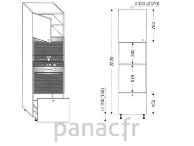 Colonne électromenager de cuisine KPM-60/2220 C1 L