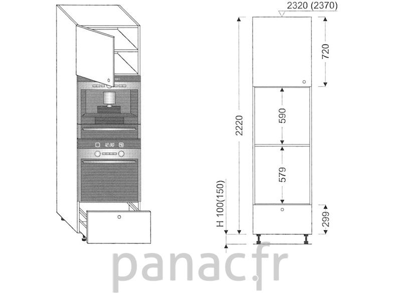 Colonne lectromenager de cuisine kpse 60 2220 a1 l for Hauteur colonne cuisine
