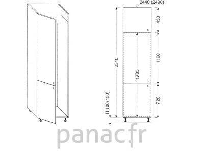 Colonne électromenager de cuisine KL-60/2340 00L