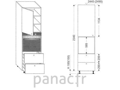 Colonne électromenager de cuisine KP-60/2340 S2 L