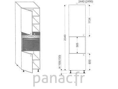 Colonne électromenager de cuisine KP-60/2340 S L