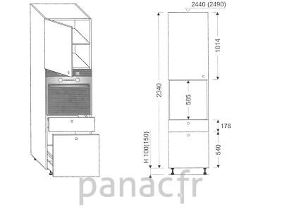 Colonne électromenager de cuisine KP-60/2340 T8 L