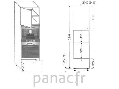 Colonne électromenager de cuisine KPE-60/2340 B1 L