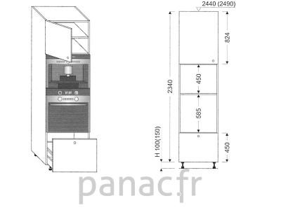 Colonne électromenager de cuisine KPE-60/2340 C1 L