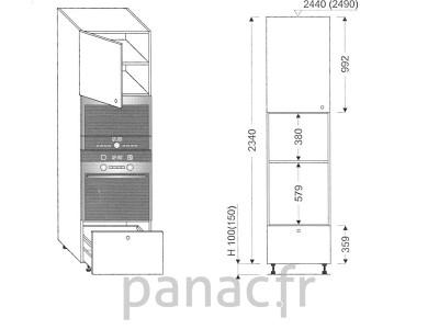 Colonne électromenager de cuisine KPM-60/2340 B1 L