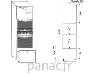 Colonne électromenager de cuisine KPM-60/2340 C1 L