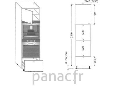 Colonne électromenager de cuisine KPSE-60/2340 B1 L