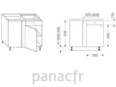 Meuble de cuisine sur mesure for Dimension meuble cuisine ikea