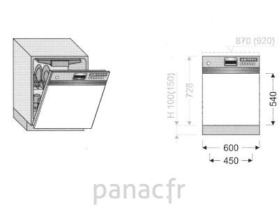 Façade lave vaisselle DR-60/540 N
