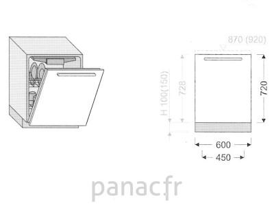 Façade lave vaisselle DR-60/720 N
