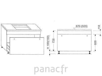 Meuble sous plaque de cuisson OC-70 STM 1