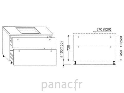 Meuble sous plaque de cuisson OC-70 STM 2