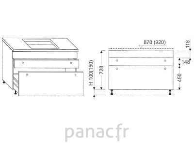 Meuble sous plaque de cuisson OC-120 STM 3