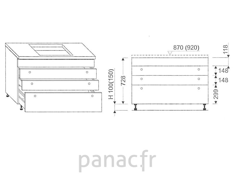 meuble sous plaque de cuisson oc 90 stm 4 On meuble sous plaque de cuisson