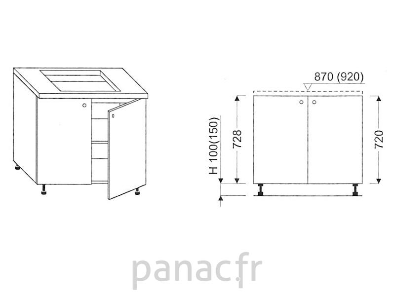 meuble sous plaque de cuisson oc 80 d