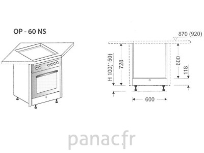 meuble d 39 angle sous plaque de cuisson op 60 ns. Black Bedroom Furniture Sets. Home Design Ideas