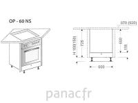 Meuble d'angle sous plaque de cuisson OP-60 NS