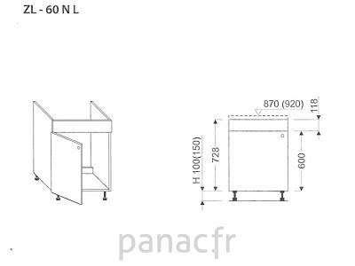 Meuble sous-évier ZL-60 NL