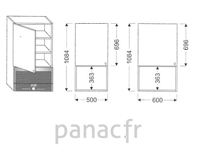 Meuble haut de cuisine GM-50/1084 NL
