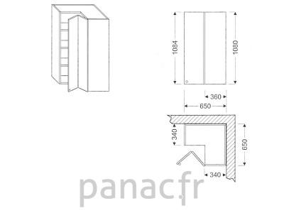 Meuble haut de cuisine GN-65x65/1084 NP