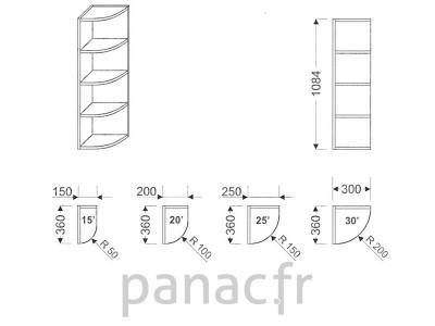 Meuble haut de cuisine GO-250/1084 P